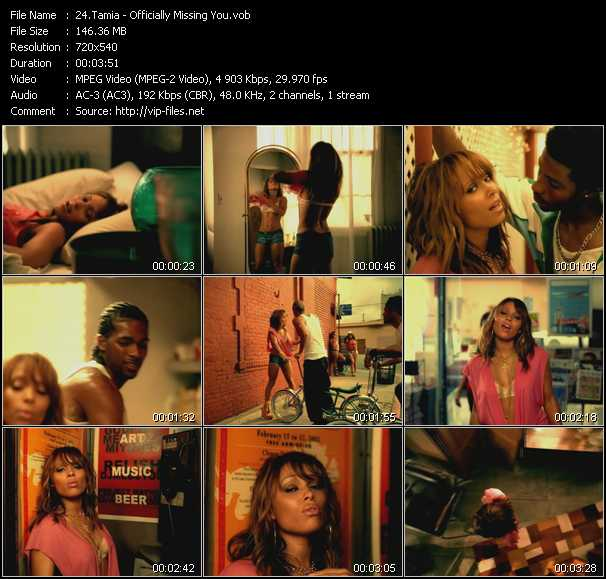 Tamia video screenshot