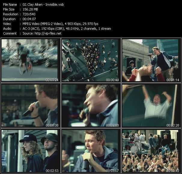 Clay Aiken video screenshot