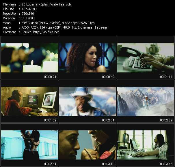 video Splash Waterfalls screen