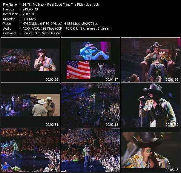 Tim McGraw video screenshot