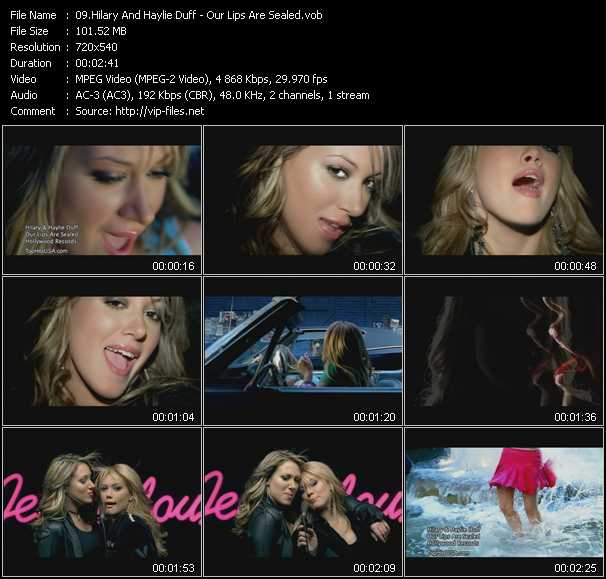 Hilary Duff And Haylie Duff video screenshot