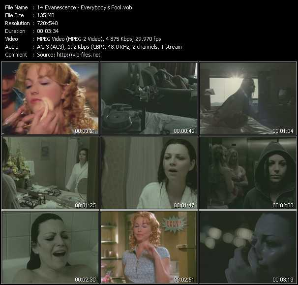 Evanescence video screenshot