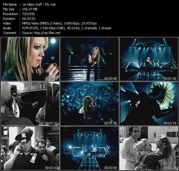Hilary Duff video screenshot