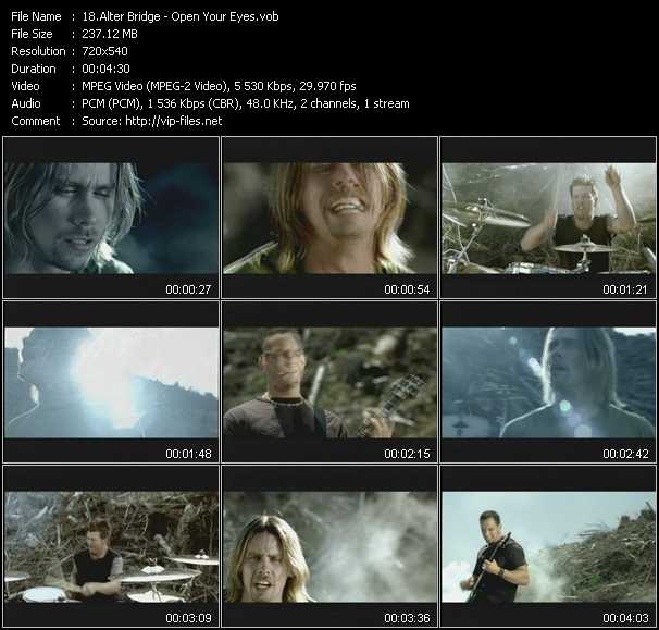 Alter Bridge video screenshot