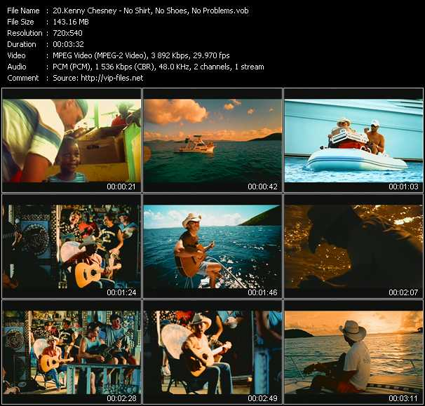 Kenny Chesney video screenshot
