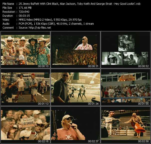Jimmy Buffett With Clint Black, Kenny Chesney, Alan Jackson, Toby Keith And George Strait video screenshot