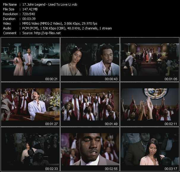 John Legend video screenshot