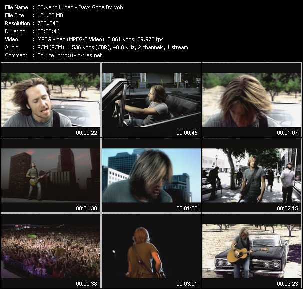 Keith Urban video screenshot