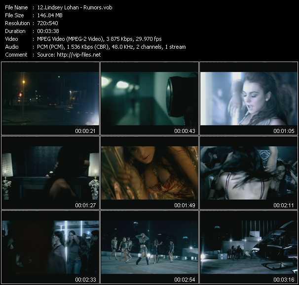 Lindsey Lohan video screenshot