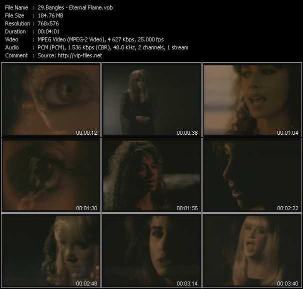 Bangles video screenshot