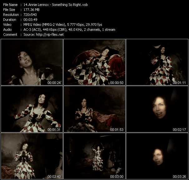 Annie Lennox video screenshot