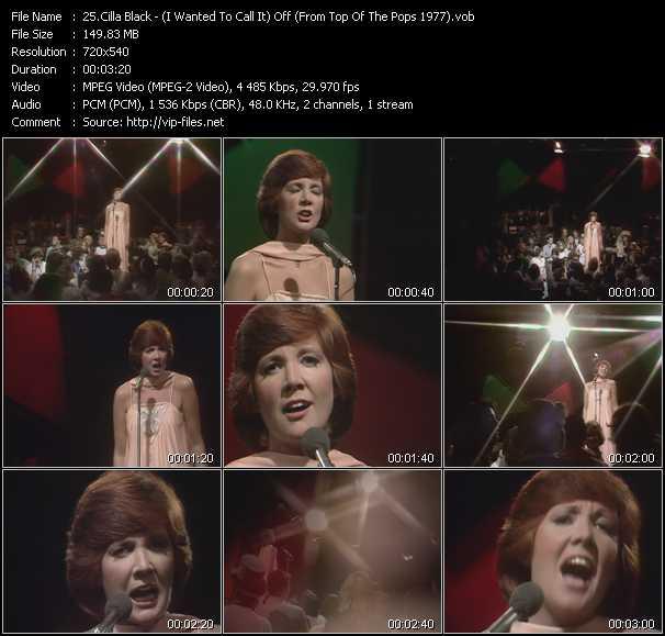 Cilla Black video screenshot