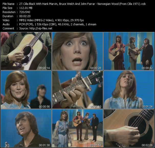 Cilla Black With Hank Marvin, Bruce Welch And John Farrar video screenshot