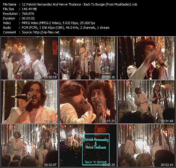 Patrick Hernandez And Herve Tholance video screenshot