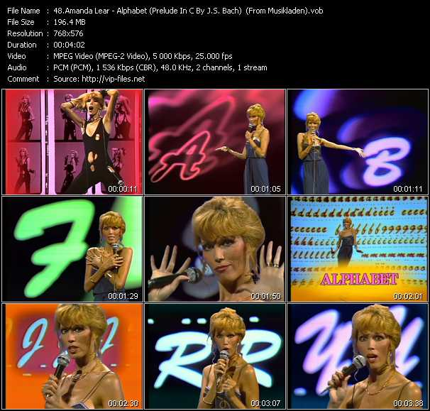 Amanda Lear video screenshot