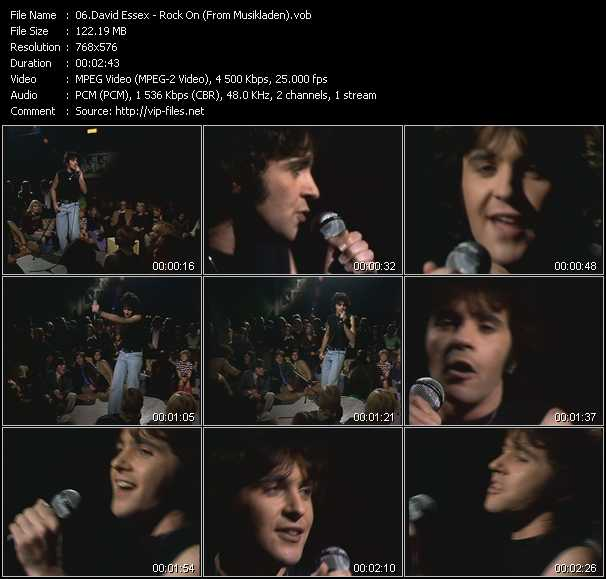 David Essex video screenshot