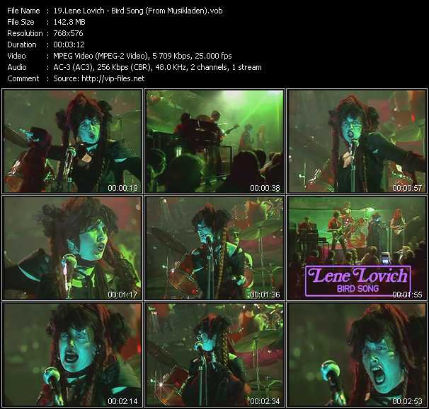 Lene Lovich video screenshot