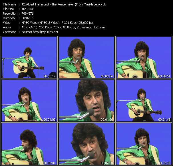 Albert Hammond video screenshot