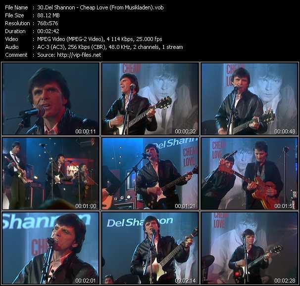 Del Shannon video screenshot
