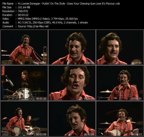 Lonnie Donegan video screenshot