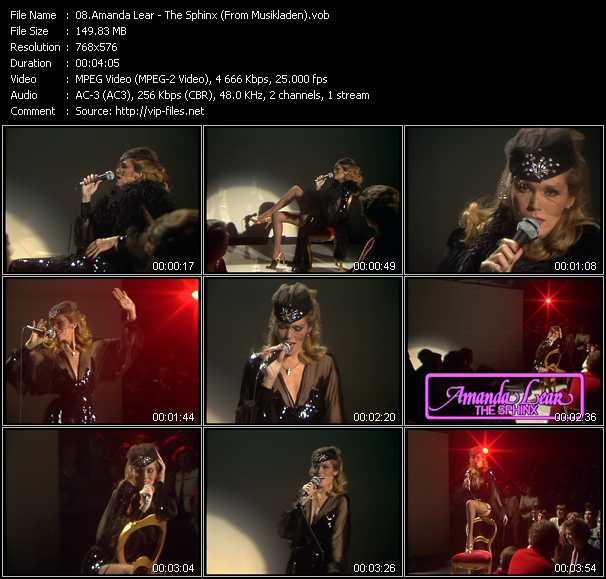 Amanda Lear video screenshot