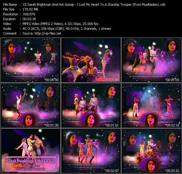 Sarah Brightman And Hot Gossip video screenshot