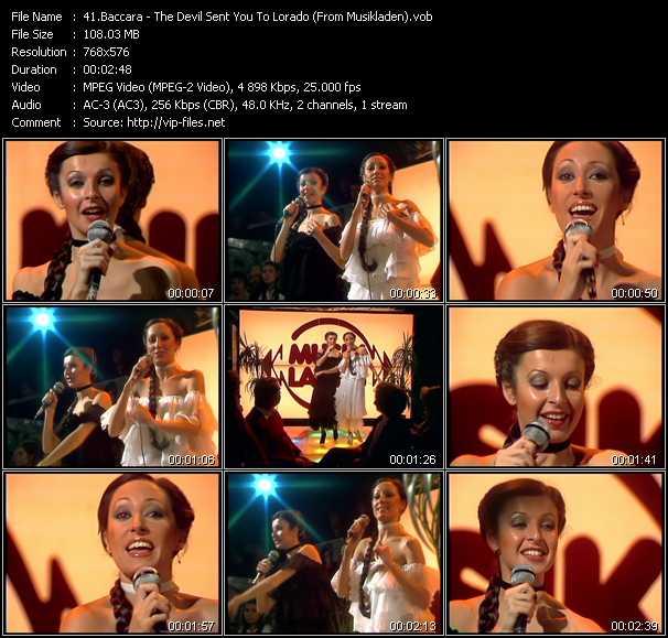 Baccara video screenshot