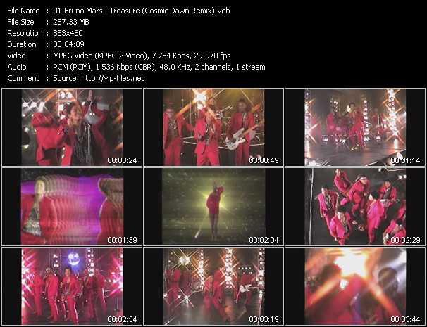Bruno Mars video screenshot