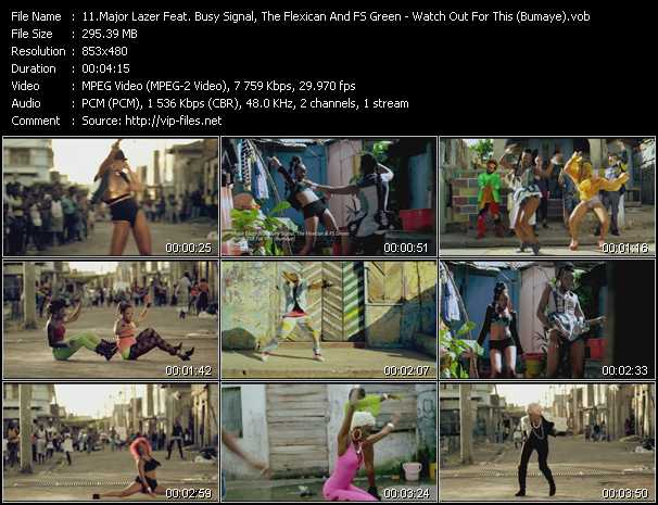 Major Lazer Feat. Busy Signal, The Flexican And FS Green video screenshot