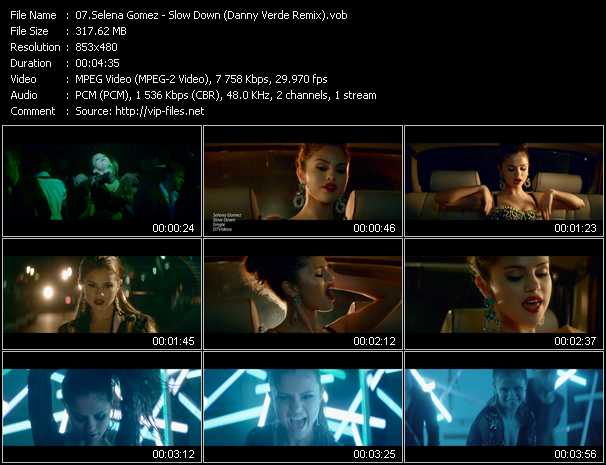 Selena Gomez video screenshot