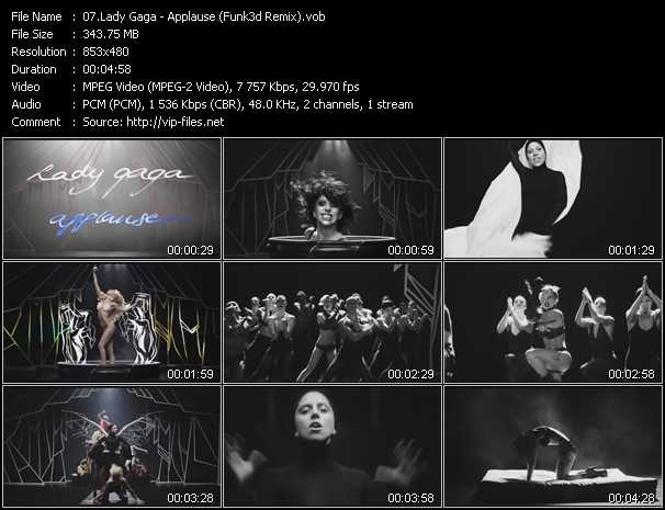 Lady Gaga video screenshot