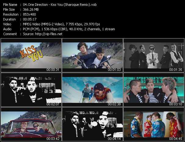One Direction video screenshot