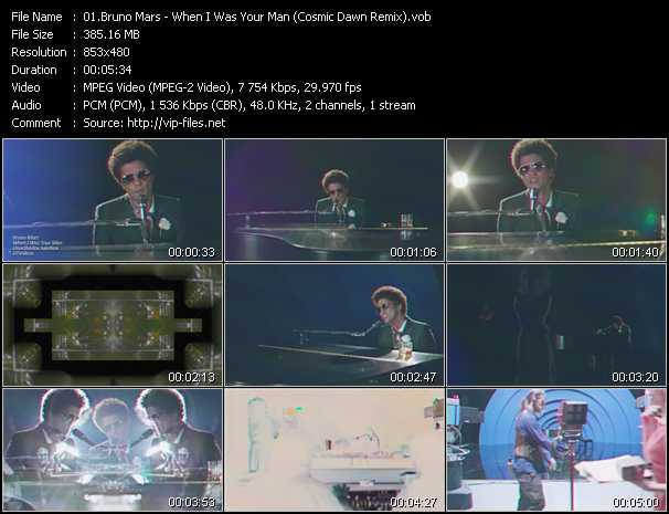 Bruno Mars video screenshot
