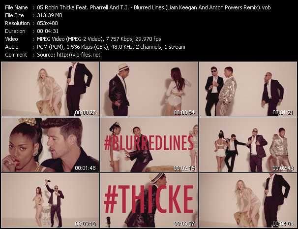video Blurred Lines (Liam Keegan And Anton Powers Remix) screen