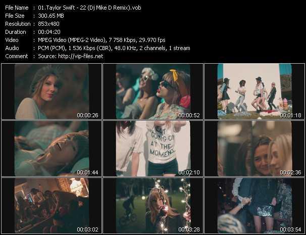 video 22 (Dj Mike D Remix) screen