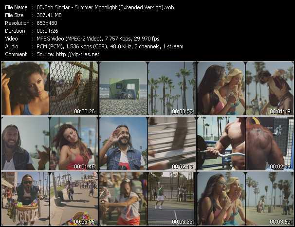 Bob Sinclar video screenshot