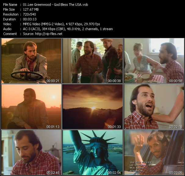Lee Greenwood video screenshot