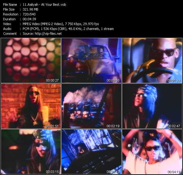 Aaliyah video screenshot