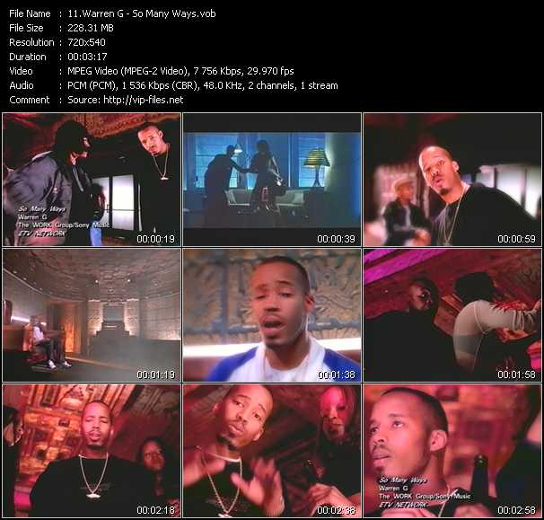 Warren G video screenshot
