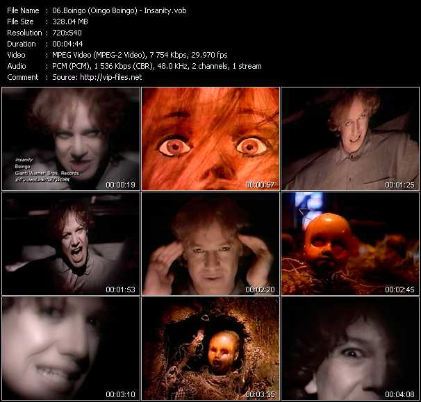 Boingo (Oingo Boingo) video screenshot