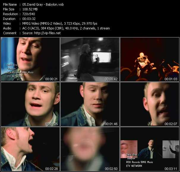 David Gray video screenshot