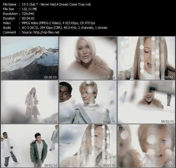 S Club 7 video screenshot