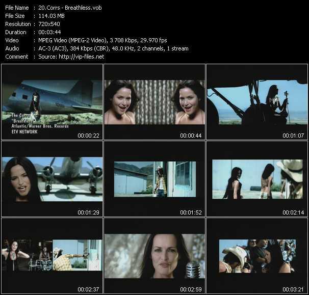 Corrs video screenshot