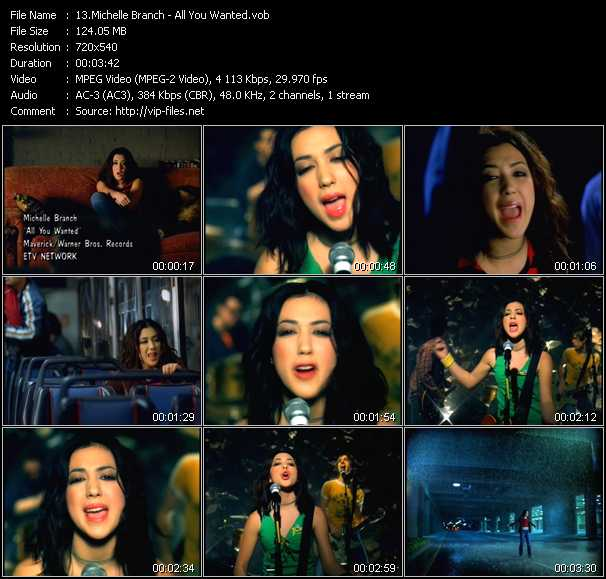 Michelle Branch video screenshot