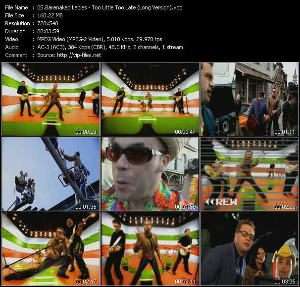Barenaked Ladies video screenshot
