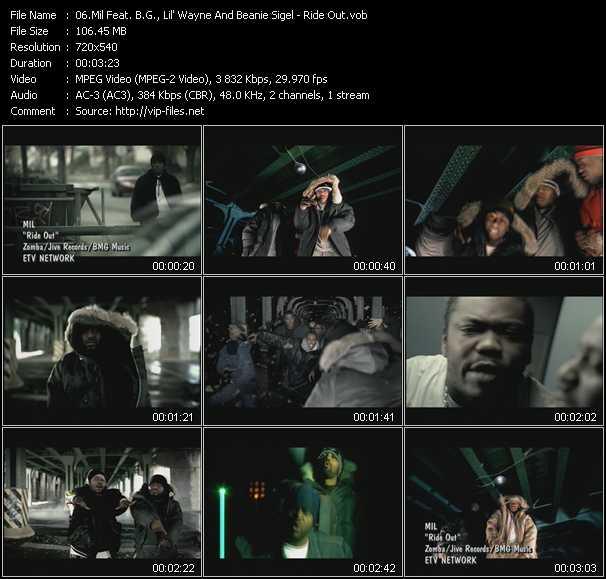 Mil Feat. B.G., Lil' Wayne And Beanie Sigel video screenshot