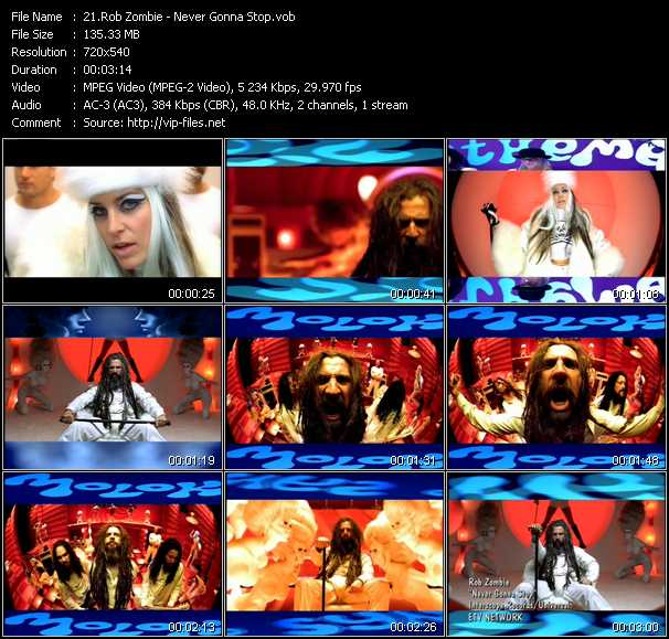 Rob Zombie video screenshot