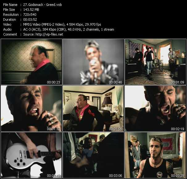 Godsmack video screenshot