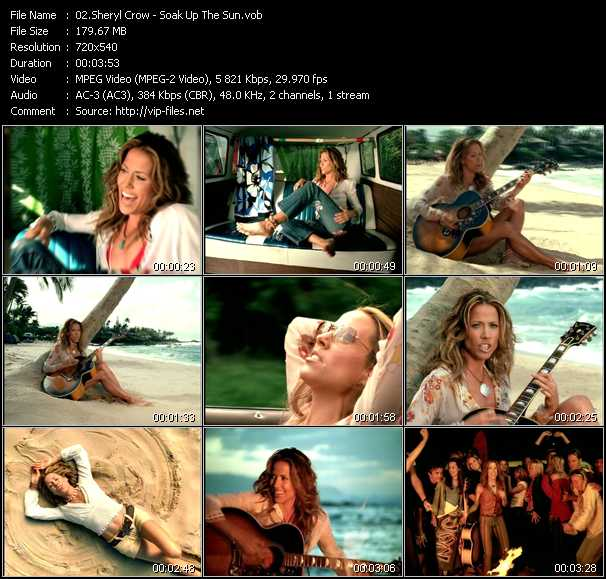 Sheryl Crow video screenshot