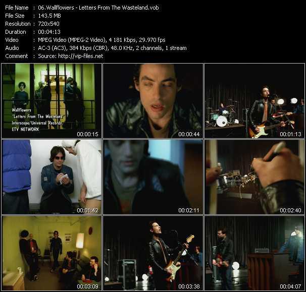Wallflowers video screenshot